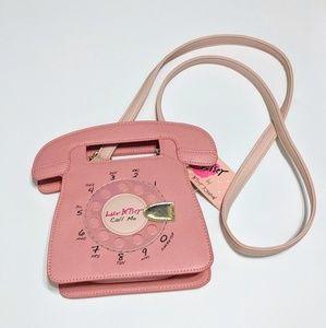 Betsey Johnson Telephone Crossbody Purse